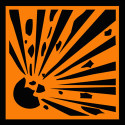 explosive warning symbol