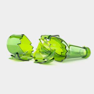 broken glass bottle