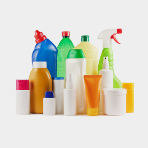 cleaning product containers