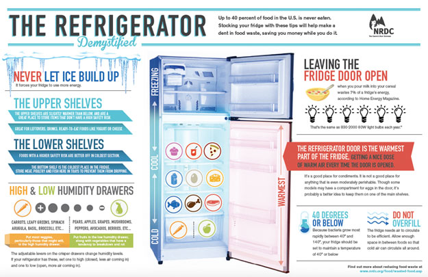 NRDC's Refrigerator Demystified infographic: