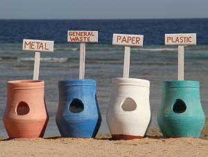 DIY recycling receptacles