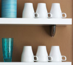 glasses mugs shelf