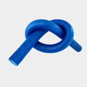 blue pool noodle tied in knot